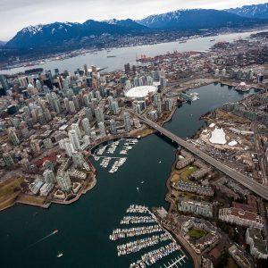 Odysseo White Big Top & the Vancouver Skyline
