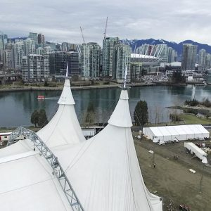 Vancouver Skyline with the White Big Top