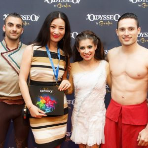 Odysseo fans with artists