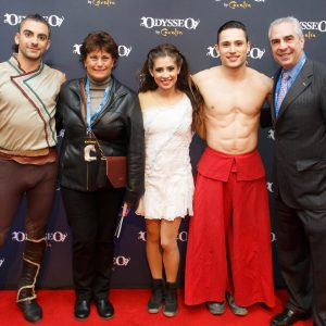 Odysseo fans with artists on red carpet