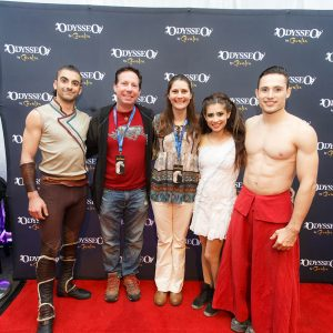 Odysseo fans with artists at Chicago premiere