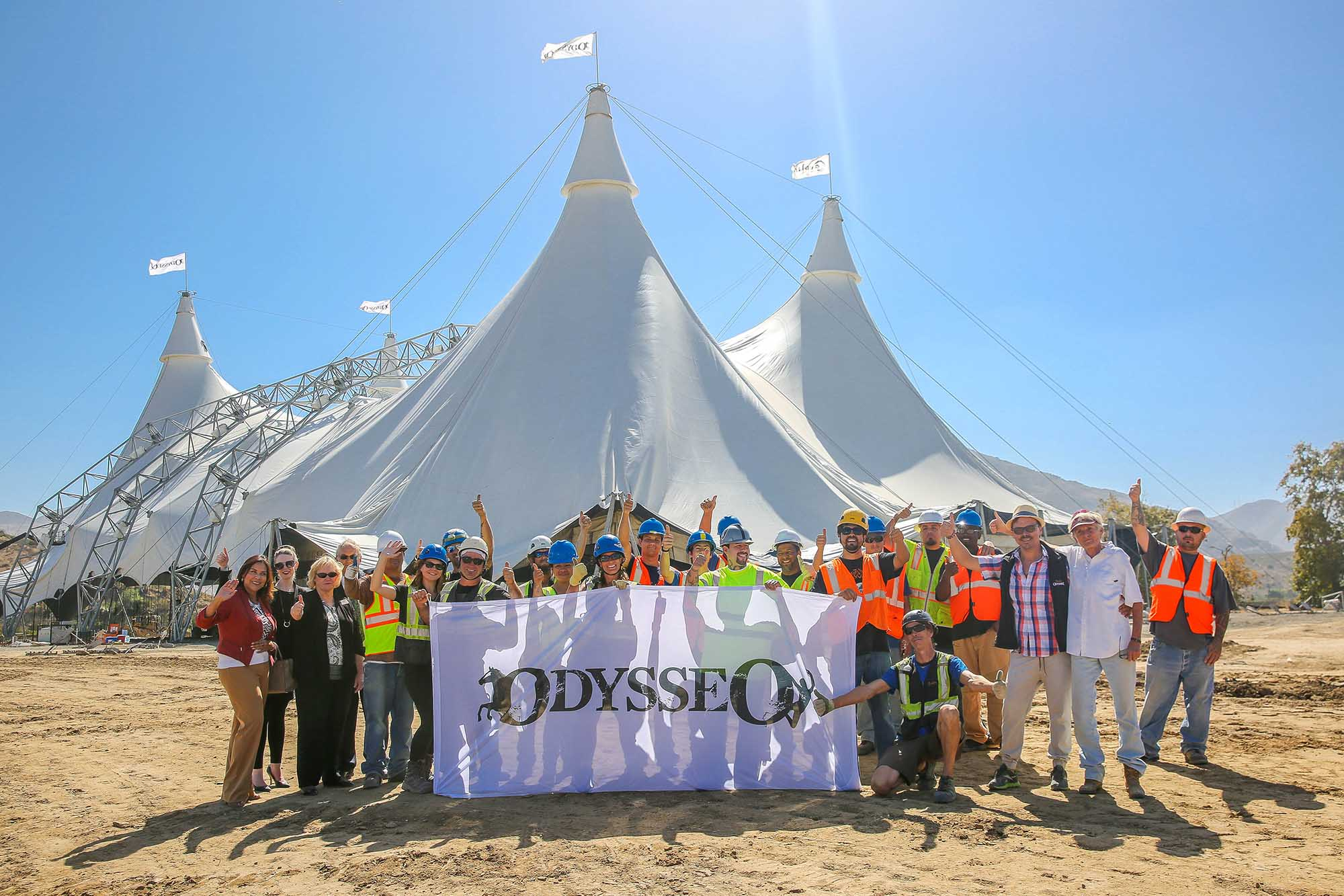 Odysseo Ventura County • Our White Big Top is up in Camarillo!