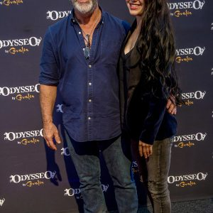Mel Gibson and Rosalind Ross at Odysseo premiere in Camarillo