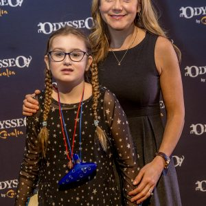 Megyn Price and daughter at Odysseo premiere in Camarillo