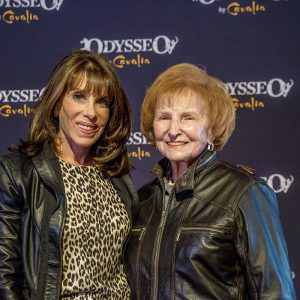 Kate Linder and mother at Odysseo premiere in Camarillo