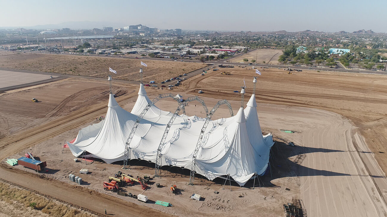 Cavalia Odysseo  • Our White Big Top is up in Scottsdale!