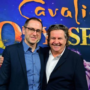 True North Sports + Entertainment's Kevin Donnelly and Cavalia's Normand Latourelle in Winnipeg